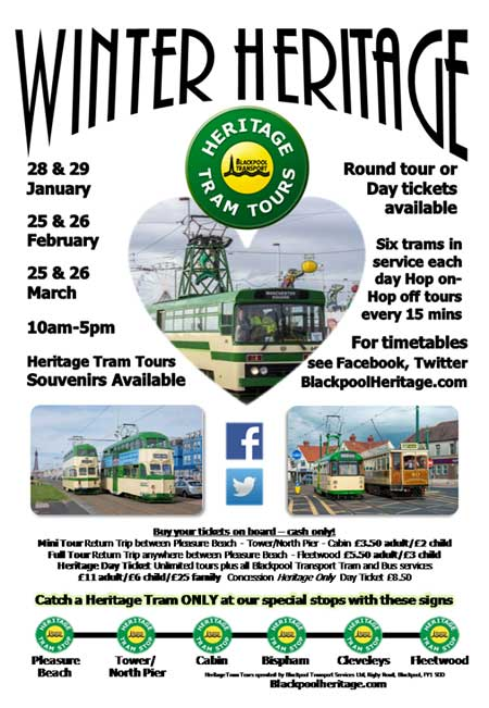 Blackpool Heritage Tours Winter Tours 2017