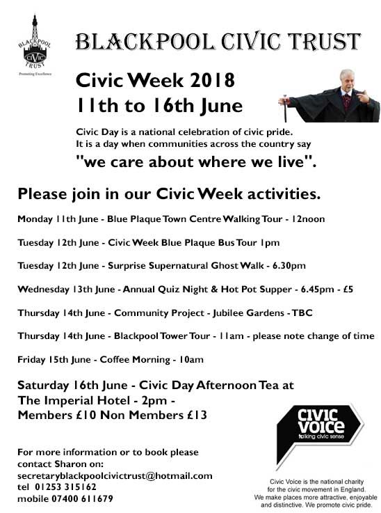 11th June - 16th June 2018 - Blackpool Civic Week