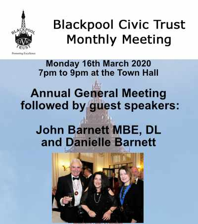 Blackpool Civic Trust Monthly Meeting 16th March 2020