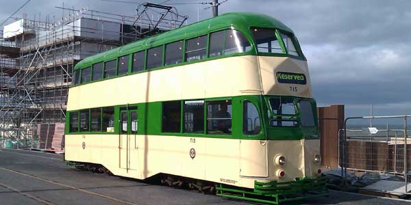 Tram 715, partly owned by Blackpool Civic Trust