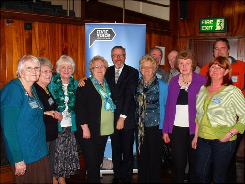 Blackpool Civic Trust members meeting Grif Rhys Jones the President of Civic Voice who kindly agreed to present prizes at our annual awards