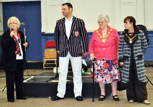 Elaine Smith, Andy Mitchell, the Mayor and Mayoress of Blackpool
