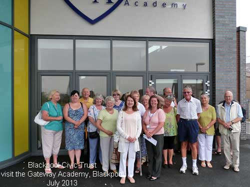 Blackpool Civic Trust members on a visit