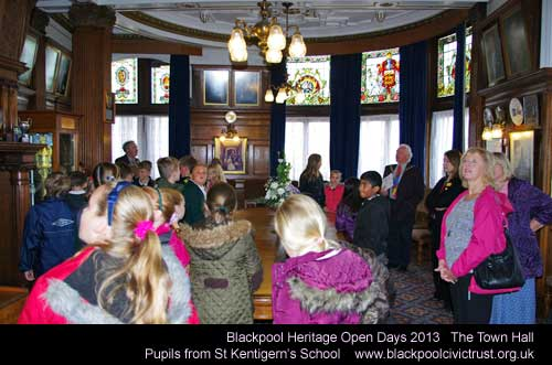 The pupils of St Kentigerns in the Town Hall