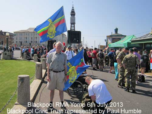 Royal Marines Yomp in Blackpool 2013