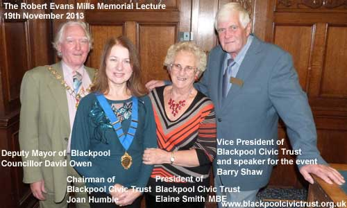 Blackpool Civic Trust meet the Deputy Mayor of Blackpool.