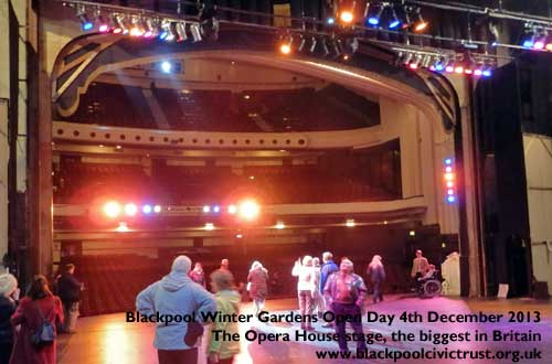 Blackpool Opera House stage