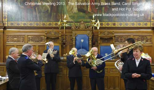 Blackpool Civic Trust Christmas 2013.  The Salvation Army Brass Band with Carol Singing