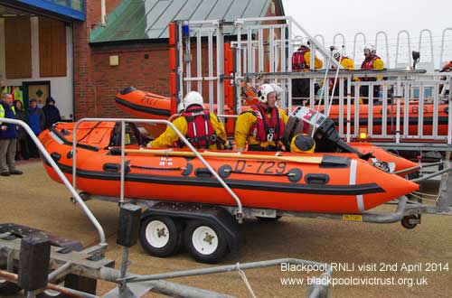 Blackpool Civic Trust visit the RNLI at Blackpool