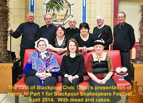 The cast of Henry IV Part 1 by Blackpool Civic Trust