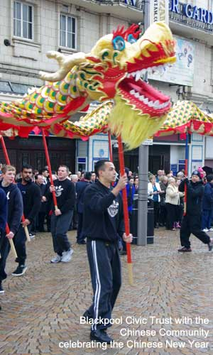 Blackpool Civic Trust with the Chinese Community celebrating the Chinese New Year