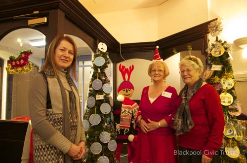 Blackpool Civic Trust at the Winter Gardens Christmas Tree Festival