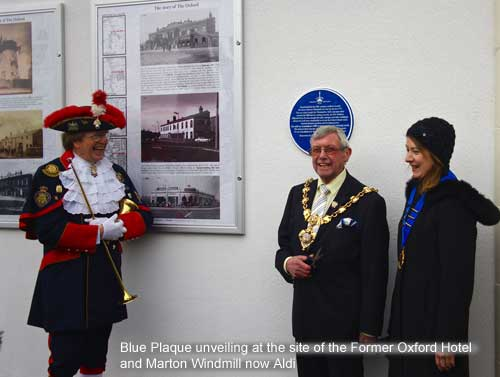 Blue Plaque for Marton Windmill and Oxford Hotel