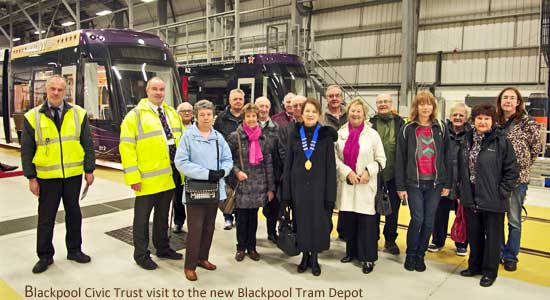 Blackpool Civic Trust Members visit the new tram depot