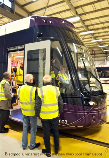 Blackpool Civic Trust visit the new Blackpool Tram Depot
