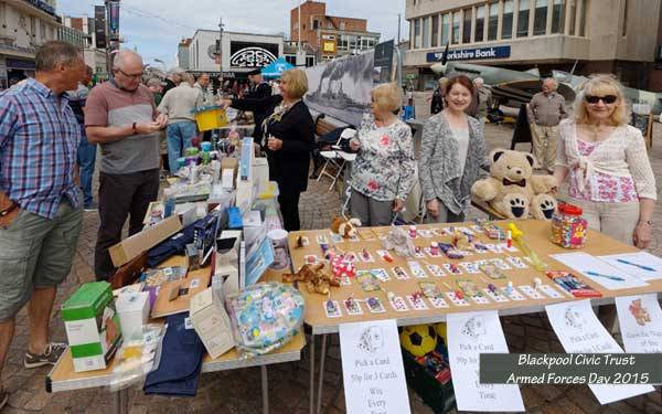 Blackpool Civic Trust stall at Armed Forces Day 2015