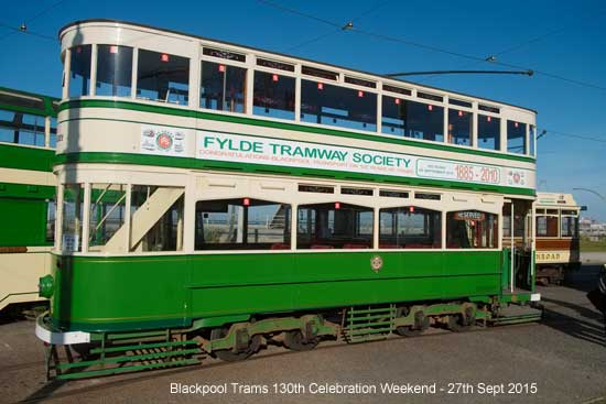 Blackpool Trams 130th Celebration Weekend Sept 2015