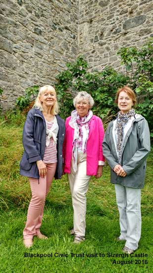 Members of Blackpool Civic Trust at Sizergh Castle