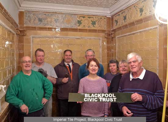 Blackpool Civic Trust Imperial Hotel Tile Project