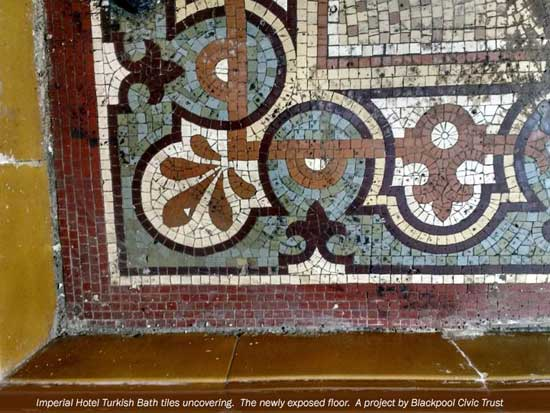 Imperial Hotel Turkish Baths tiles project
