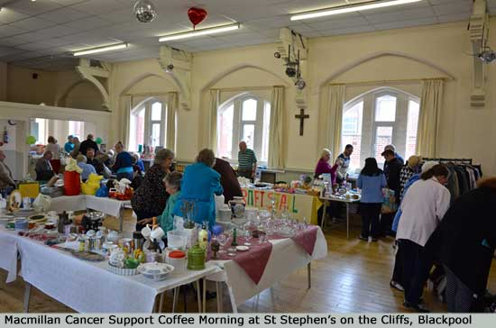 Macmillan Cancer Support Coffee Morning at St Stephen's on the Cliffs, Blackpool