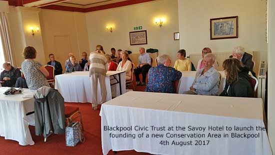 Conservation Area in Blackpool launch meeting on 4th August 2017, Blackpool Civic Trust