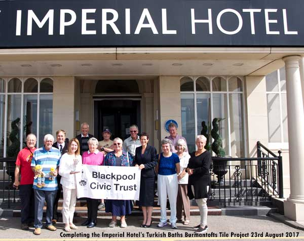 Blackpool Civic Trust complete the Imperial Hotel Turkish Baths Project 23rd August 2017