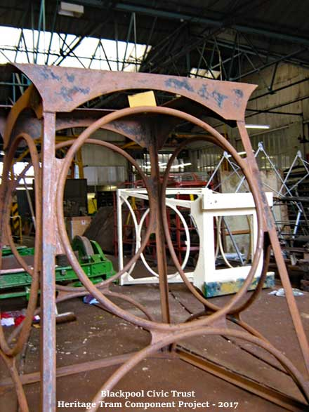 Blackpool Civic Trust - Heritage Tram Component project 2017