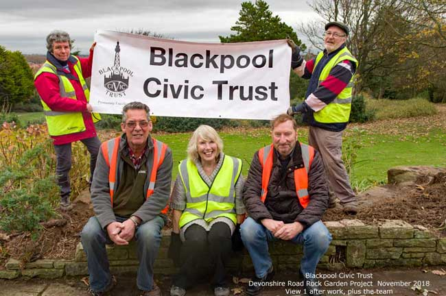 Blackpool Civic Trust Devonshire Road Rock Gardens Project 2018