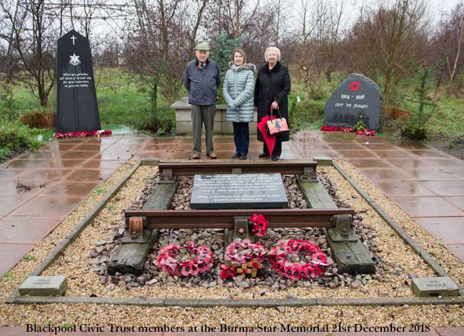 Blackpool Civic Trust at the Burma Star Association Memorial