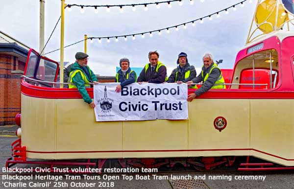 Blackpool Civic Trust volunteers wave the banner
