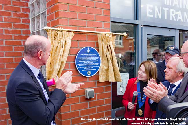 Blue Plaque for Jimmy Armfield unveiled by his