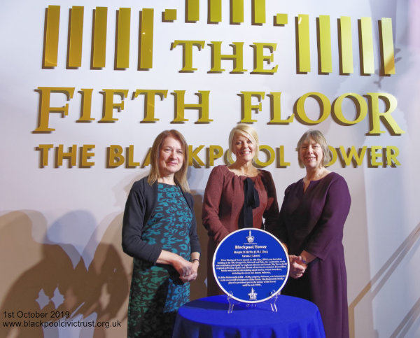Blackpool Civic Trust at unveiling of Blue Plaque at Blackpool Tower
