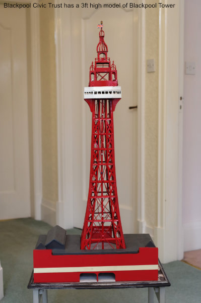 Blackpool Civic Trust 3ft high model of Blackpool Tower