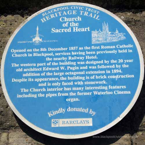 Blackpool Civic Trust, Blue Plaque